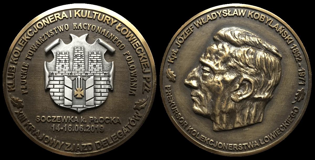 Medal pamiątkowy XIII KZD KKiKŁ PZŁ upamiętniający postać kpt. Józefa Wł. Kobylańskiego