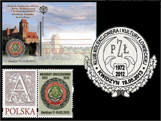 Kartka pocztowa, znaczek personalizowany idatownik okolicznościowy