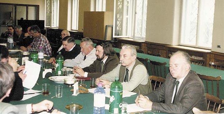 Od prawej: R.Cabaj, T.Wajda, J.Ulfik, Z.Krych, Mazik, K.Piekarski